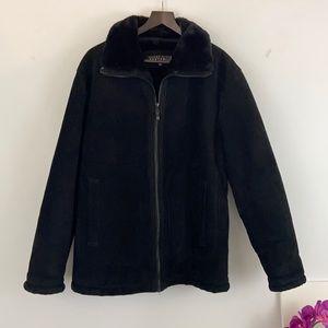 Perry Ellis Portfolio Men's Black Leather Coat SzM